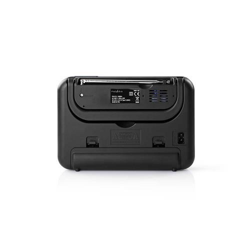 Nedis RDFM1310GY FM-radio   3 W   Klok & alarm   USB-poort & microSD-kaartsleuf   Zwart / grijs