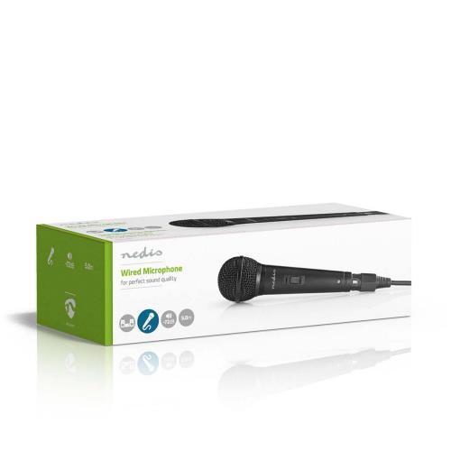 Nedis MPWD25BK Bedrade Microfoon | Gevoeligheid -72 dB +/-3 dB | 85 Hz - 11 kHz | 5,0 m