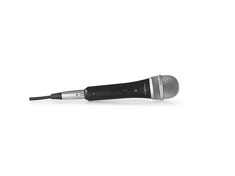 Nedis MPWD50CBK Bedrade Microfoon | Gevoeligheid -72 dB +/-3 dB | 50 Hz - 15 kHz | 5,0 m | Reisetui