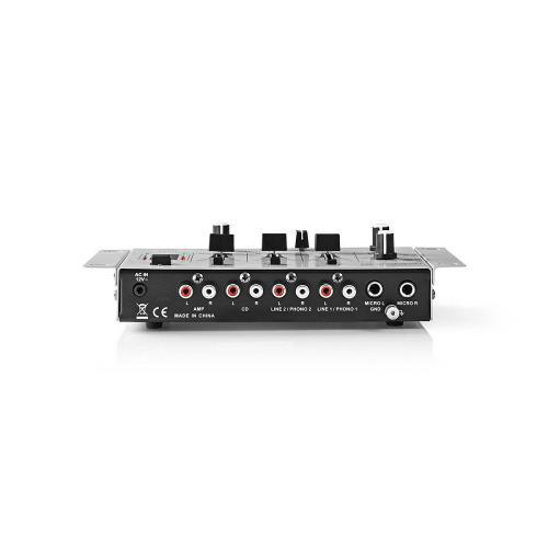 Nedis MIXD050GY DJ-Mixer | 3 Stereokanalen | Crossfader | Talkover-Functie