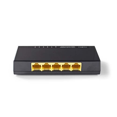 Nedis NSWH5P100BK Netwerkswitch | 5 poorten | 1 Gbps | LED-indicatielampjes