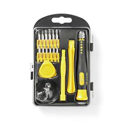 Nedis CSTS10017 Toolkit | 17-in-1 | voor reparatie van pc, Smartphone en tablet