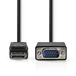Nedis CCGP37300BK10 DisplayPort - VGA-kabel   DisplayPort male - VGA male   1,0 m   Zwart