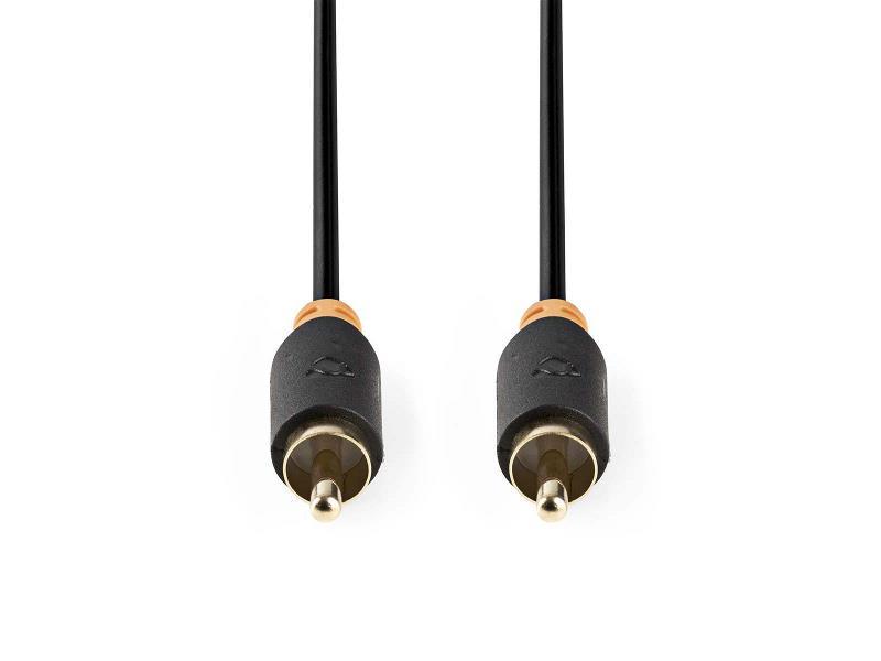 Nedis CABW24170AT10 Digitale Audiokabel   RCA male - RCA male   1,0 m   Antraciet