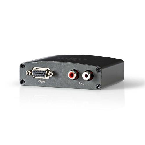 Nedis VCON3411AT HDMIT naar VGA-omzetter   1-weg - HDMIT-ingang   VGA + 2x RCA (L/R)-uitgang