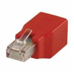 Nedis CCGP89251RD CAT6 Crossover-Netwerkadapter | RJ45 Male - RJ45 Female | Rood
