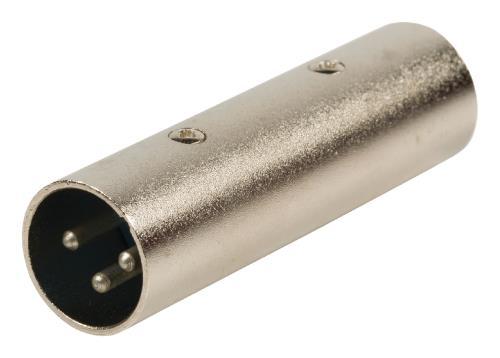 XLR-3M3M 3p XLR mannelijk - 3p XLR mannelijk adapter