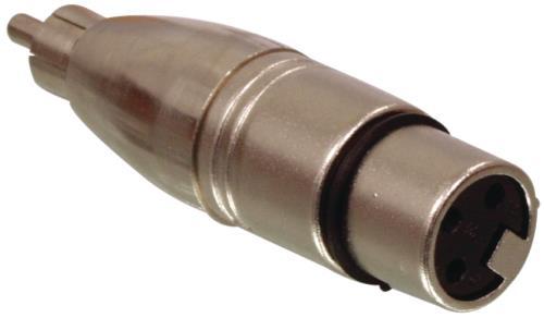 XLR-3MRCAF 3p XLR mannelijk- RCA vrouwelijk