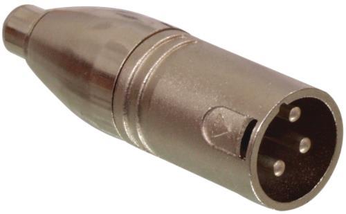 XLR-3MRCAM RCA mannelijk - 3p XLR mannelijk adapter