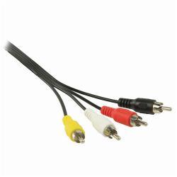 Nedis CVGP24400BK20 RCA-videokabel   4x RCA Male - 4x RCA Male   2,0 m   Zwart