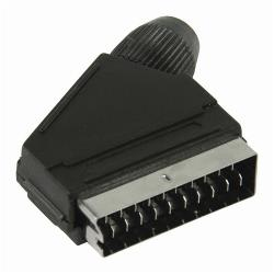 Nedis CVGP31990BK SCART-Connector | Male - Zwart