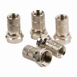 Nedis CSGB41903ME F-Connector | Male - Voor 5,5 mm kabels | 5 Stuks | Metaal