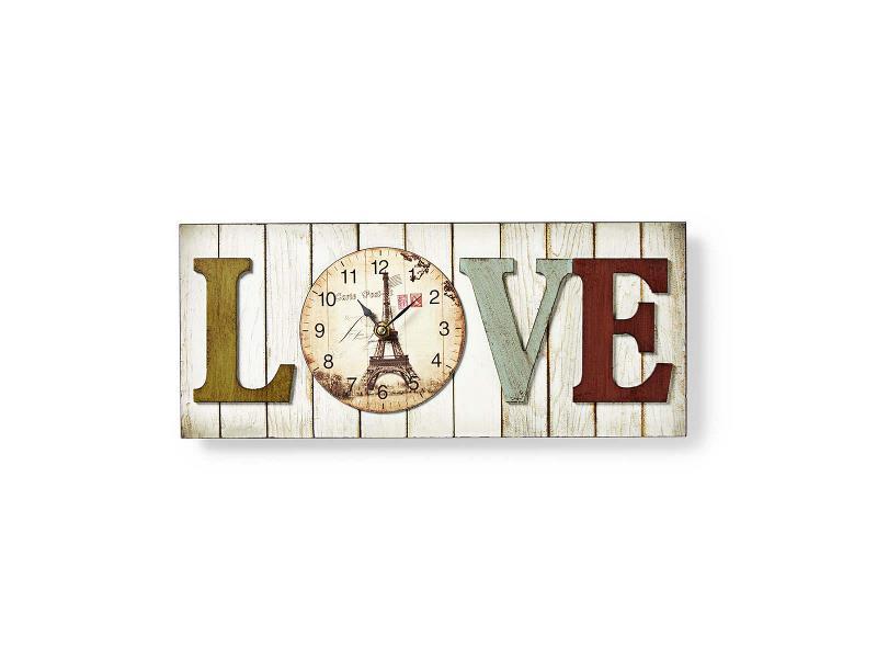 Nedis CLWA001WDL40 Houtstijl wandklok in lijst | Model 'LOVE'
