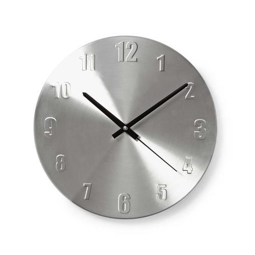 Nedis CLWA009MT30 Ronde wandklok | Diameter 30 cm | Aluminium