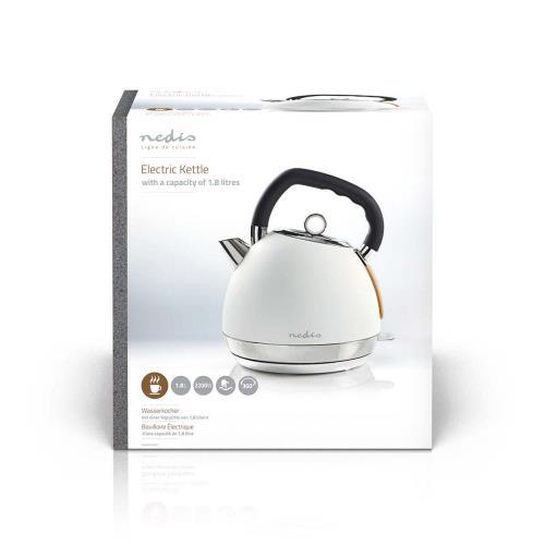 Nedis KAWK520EWT Elektrische waterkoker | 1,8 l | Soft-touch | Wit