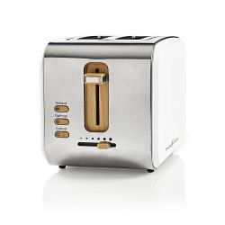 Nedis KABT510EWT Broodrooster | 2 brede sleuven | Soft-touch | Wit