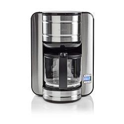 Nedis KACM210EAL Koffiezetapparaat   12-kops capaciteit   24-uurs timer   Roestvrij staal