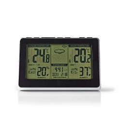Nedis WEST400BK Weerstation | Draadloze sensor | Alarmklok | Weersvoorspelling