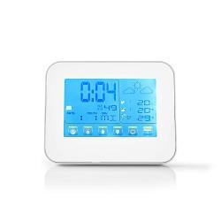 Nedis WEST401WT Weerstation | Draadloze sensor | Alarmklok | Weersvoorspelling
