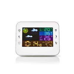 Nedis WEST402WT Weerstation | Draadloze sensor | Alarmklok | Weersvoorspelling