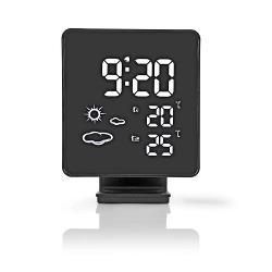 Nedis WEST403BK Weerstation | Draadloze sensor | Alarmklok | Weersvoorspelling