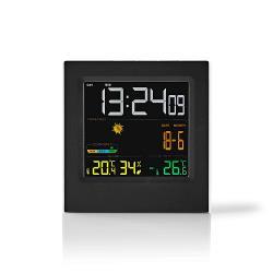 Nedis WEST404BK Weerstation | Draadloze sensor | Alarmklok | Weersvoorspelling