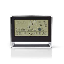 Nedis WEST405BK Weerstation | Draadloze sensor | Alarmklok | Weersvoorspelling