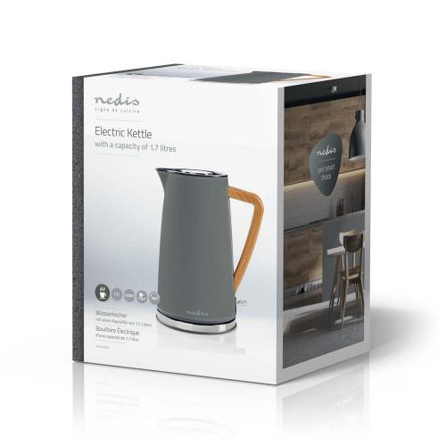 Nedis KAWK510EGY Elektrische waterkoker   1,7 l   Soft-touch   Grijs