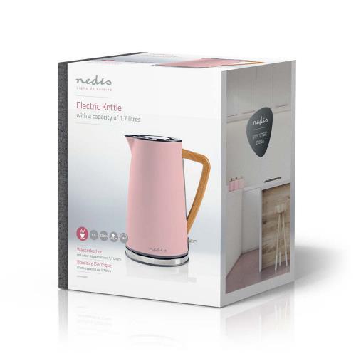Nedis KAWK510EPK Elektrische waterkoker | 1,7 l | Soft-touch | Roze