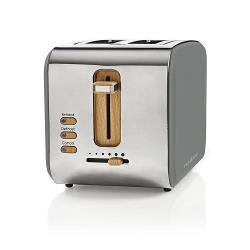 Nedis KABT510EGY Broodrooster | 2 brede sleuven | Soft-touch | Grijs