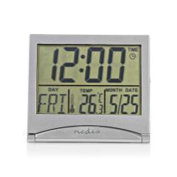 Nedis CLDK002SR Digitale Reiswekker | Datum/Temperatuur | Zilver