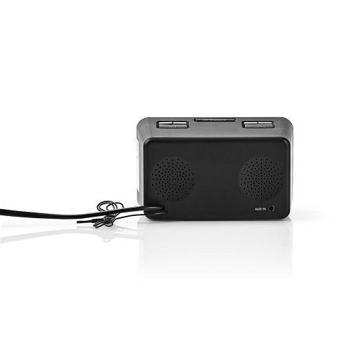 """Nedis CLAR002BK Digitale Wekkerradio   LED van 0,9""""   FM   20 Voorkeuze-Instellingen   Sluimeren"""