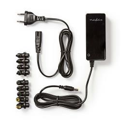 Nedis NBARU70WBK Laptopadapter | Universeel met 10 stekkers | 70 W | Uitgang 15 V - 19,5 V