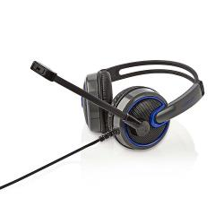 Nedis GHST200BK Gamingheadset | Over-ear | Microfoon | 3,5 mm connectoren