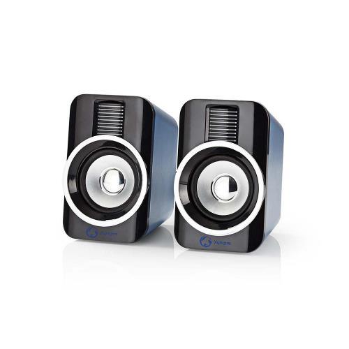 Nedis GSPR20020BK Gaming-luidsprekers | 2.0 | RGB | Over USB gevoed | 3,5 mm jack | RMS 10W