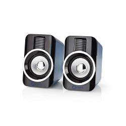 Nedis GSPR20020BK Gaming-luidsprekers | 2.0 | RGB | Over USB gevoed | 3,5 mm jack | RMS 10W