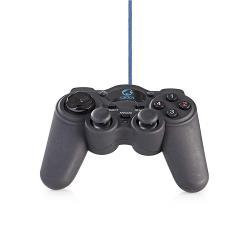 Nedis GGPD100BK Gamepad | Haptische feedback | Gevoed over USB | Werkt met USB-apparaten