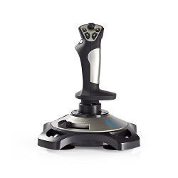 Nedis GJSK200BK Gaming-joystick | Haptische feedback | Gevoed over USB | Werkt met USB-apparaten