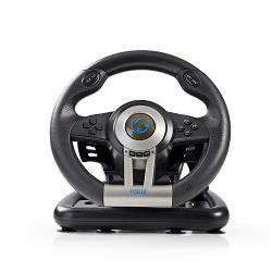 Nedis GSWL200BK Gaming-stuurwiel | Optie handmatig schakelen | Voetpedalen | Haptische feedback