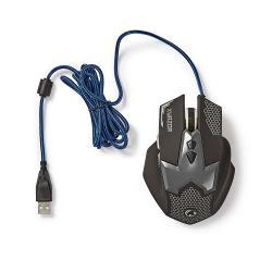 Nedis GMWD200BK Gaming-muis | Met kabel | Verlicht | 2400 dpi | 7 knoppen