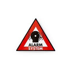 Nedis STCKWA105 Waarschuwingssticker | Pictogram alarmsysteem | Set van 5 stuks