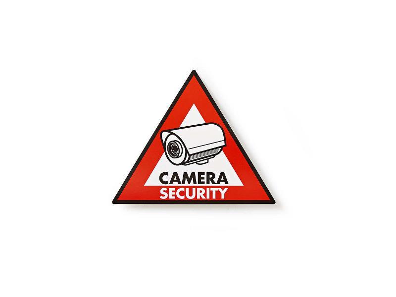 Nedis STCKWC105 Waarschuwingssticker   Pictogram camerabeveiliging   Set van 5 stuks