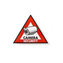 Nedis STCKWC105 Waarschuwingssticker | Pictogram camerabeveiliging | Set van 5 stuks