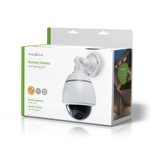 Nedis DUMCD50WT Dummy beveiligingscamera | Dome | IP44 | Wit