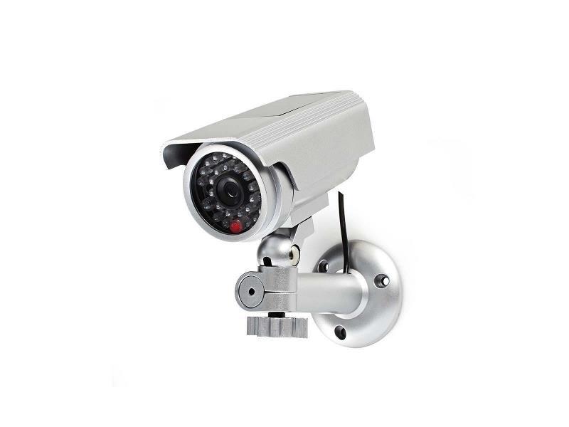 Nedis DUMCBS10SR Dummy beveiligingscamera   Bullet   IP44   Zilver