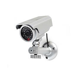 Nedis DUMCBS10SR Dummy beveiligingscamera | Bullet | IP44 | Zilver