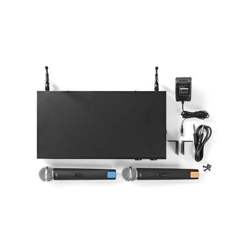 Nedis MPWL621BK Draadloze Microfoonset | 16-Kanaals | 2 Microfoons Meegeleverd | Gebruikdsuur Batterij tot 6 Uur