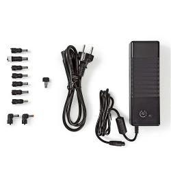 Nedis NBARU150WBK Laptopadapter | Universeel met 9 stekkers & USB | 150 W | Uitgang 12 V - 24 V
