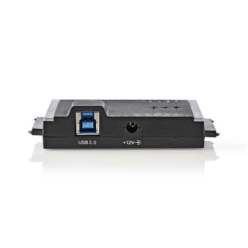 """Nedis HDADDS100BK Hardeschijfadapter   USB 3.0   Dual Sata   2,5""""/3,5""""   Met Offline-Clonefunctie"""