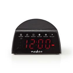 Nedis CLAR006BK Digitale Wekkerradio | Draadloos Telefoon Opladen | FM | Bluetooth® | Stereo